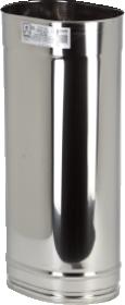 Sistema Ovale: mono parete in acciaio inox AISI 316 L e finitura BA